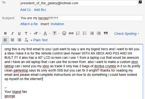 How to email a famous person web portal for benjamin j heckendorn thus just because you write a wall of text that doesnt mean people are going to read it in fact its a great way to get your email sent directly to the altavistaventures Image collections