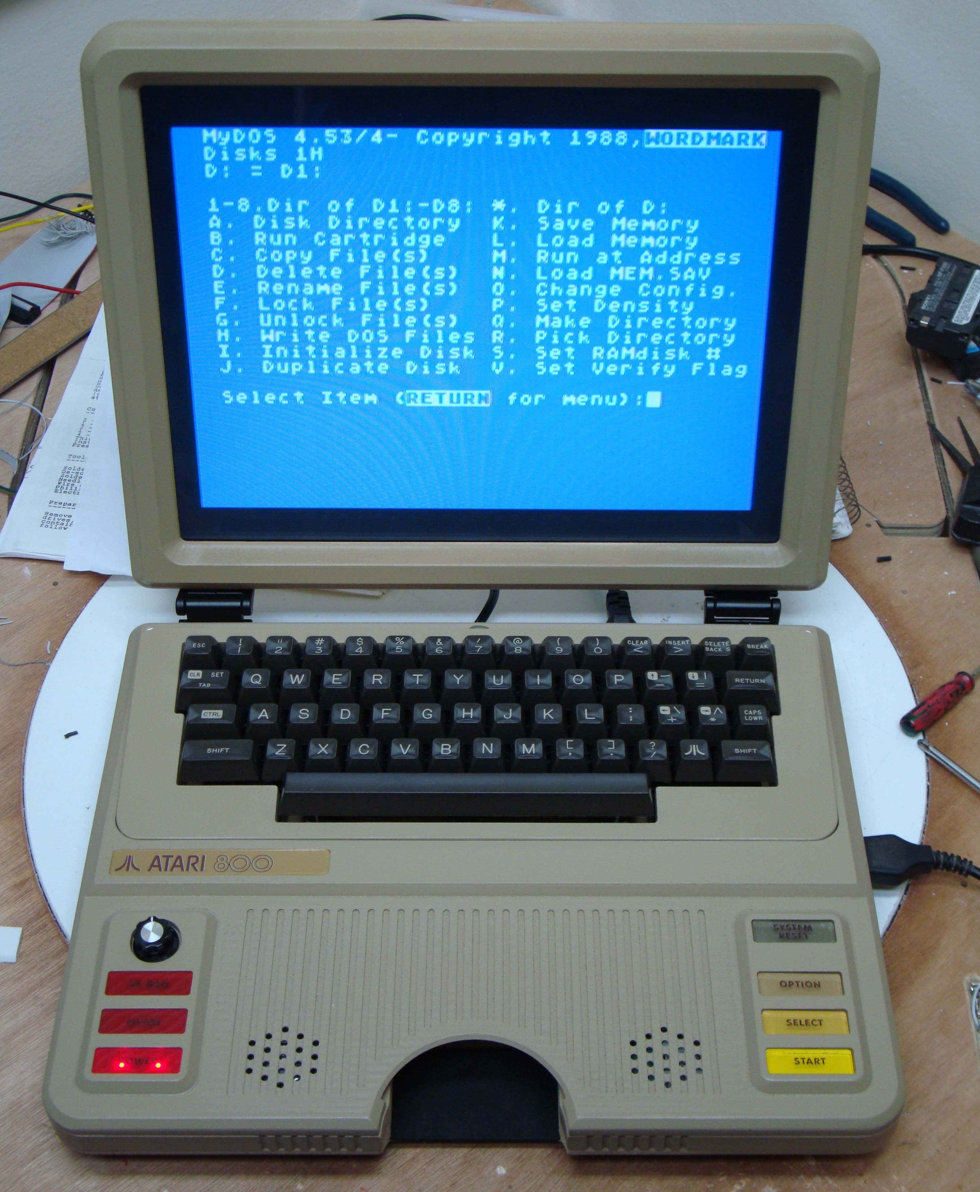 New Atari 800 Laptop | Web Portal for Benjamin J Heckendorn