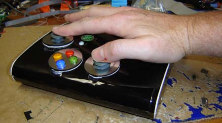 Side view of the controller